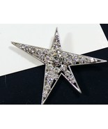 Ariana & Bardo Silver tone European clear Clear crystal Star pin brooch - $18.81
