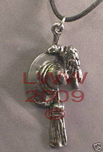 Pewter Witch's Trio Amulet Necklace Pendant Wicca Pagan - $5.85