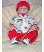 Adorable little baseball player boy doll by Lloyd Middleton. Bat & ball ... - $54.00