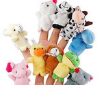 10 x cute family finger puppets cloth doll baby educational hand animal toy gift thumb155 crop
