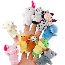 10 x cute family finger puppets cloth doll baby educational hand animal toy gift thumb200