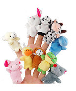 10 x Cute Family Finger Puppets Cloth Doll Baby Educational Hand Animal ... - £4.64 GBP
