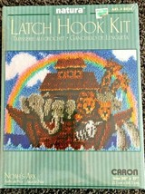 "Natura Latch Hook Kit Noahs Ark New Sealed 20""x27"" RARE w/Rainbow Caron - $34.60"