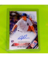 MLB JAMES PAZOS NEW YORK YANKEES 2016 TOPPS CHROME ROOKIE AUTOGRAPH GEM ... - £1.70 GBP