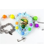 Legend of Zelda Link Necklace, Resin Pendant, Decoden Necklace, Colorful... - $30.00
