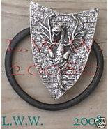 Western Dragon on Shield Hair Tie Jewelry Barrette New - $9.99