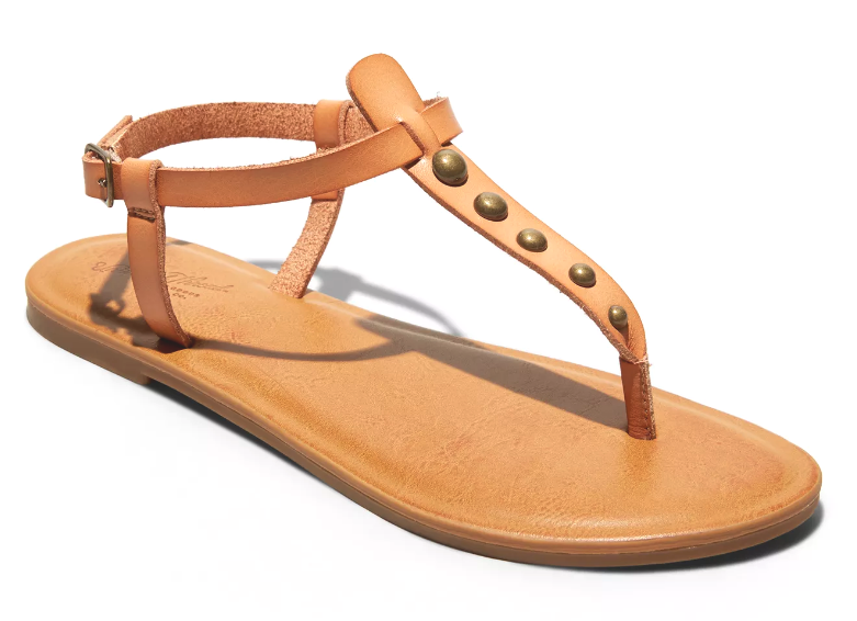 NEW Universal Thread Women's Kylianne Vegan Summer Thong Sandals Tan