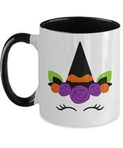 Halloween Unicorn Witch Mug for Teenage Girl Daughter Black White Coffee... - $15.79
