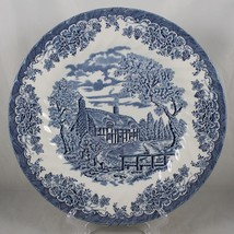 Churchill, Staffordshire, England Dinner Plate Homestead / Farm Blue & W... - $14.84