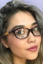 New FENDI FF 72/F  53m Havana Rx Womens Eyeglasses Frames Italy  - $149.99