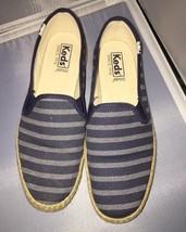 Keds Women's Champion Slip Breton Stripe Jute Fashion Sneaker Size 9/40 EUR - $14.95