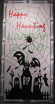 Wood Happy Haunting Halloween sign NEW Scary Spooky - $3.99