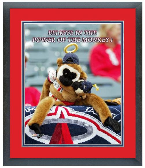 "Anaheim Angels Rally Monkey - 11""x 14"" Framed & Matted Photo"