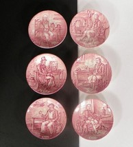 Wedgwood Professionals Coaster Pink White SET OF 6 with Box Sweet Dish - $24.70