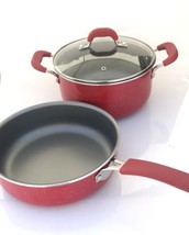 New! Pioneer Woman Red Vintage Speckle 5.5 Quart Dutch Oven And Sauté Pan - $45.99