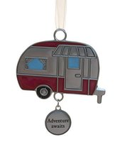 Gnz Fun In The Sun Zinc Ornament -Camper (Adventure Awaits) - £5.72 GBP