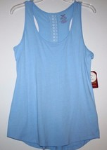 Faded Glory NWT Women S M 4 6 8 10 Racer Back Sleep Top w/ Lace Panel at Back - $15.38