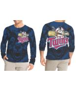 Minnesota Twins   New Long Sleeve T-shirt Fullprint For Men - $26.99