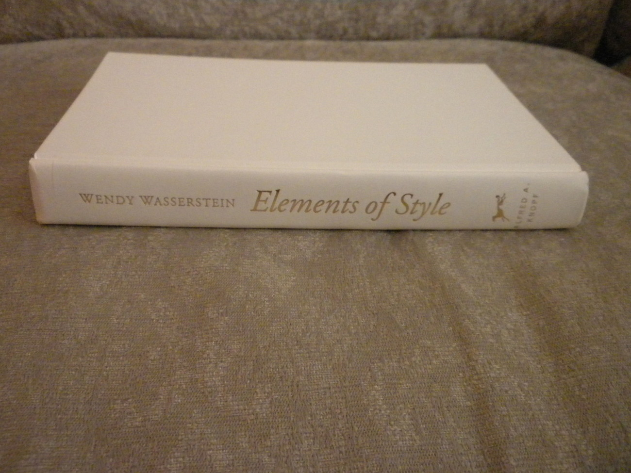 Elements of Style by Wendy Wasserstein HCwDJ stated 1st Edition Knopf  2006 NF