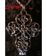 Spell- Wish- Prayer Cross Locket Necklace- aromatherapy - $11.99