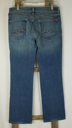 7 For All Mankind Damen 32 Blau Bootcut Jeans image 4