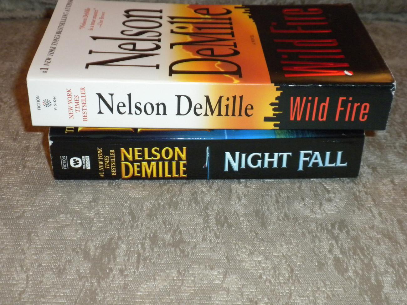 Lot of 2 Nelson DeMille p'backs:Wildfire 1st 2006  VG++ & Nightfall 1st 2005 VG