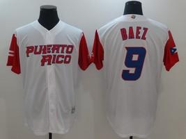 Javier Báez Jersey #9 Team Puerto Rico New White Baseball Men's Stitched - $39.98
