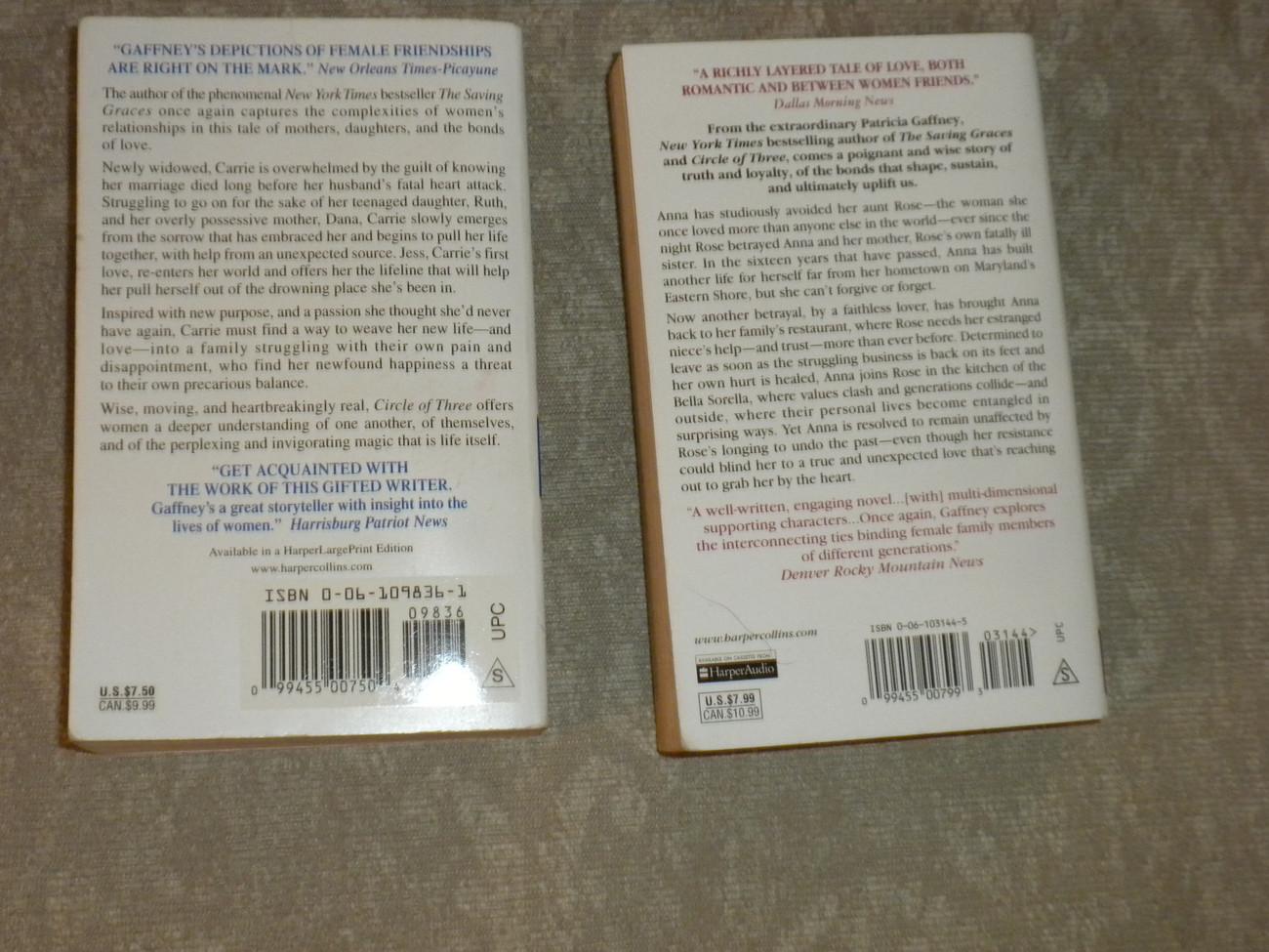 Lot of 2 Patricia Gaffney p'backs: Flight Lessons 1st 2003 & Circle of Three 1st