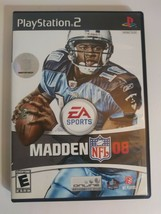 EA Sports Madden NFL 2008 (Sony PlayStation 2, 2007) Complete w/ Manual and Case - $5.08