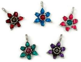 Epoxy Enamel Flower You Choose Color - 14x19x4mm image 1