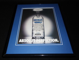 1992 Absolut Perfection Vodka Framed 11x14 ORIGINAL Advertisement - $34.64