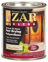 ZAR Ultra 1Pt Clear Gloss Oil Fast Dry Polyurethane 34011 United Gilsonite Lab