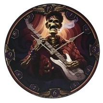 "Dead Groovy Wall Clock By James Ryman Gothic Round Plate 13.5"" D - $19.79"