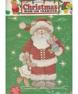 "Iron-On Transfer by Plaid Christmas  ~ Christmas Santa Bear  approx. 11"" - $9.90"