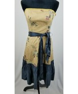 Anthropologie Tabitha women 2 Winter Flame dress strapless silk trim - $67.32