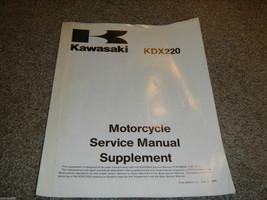 1997 97 Kawasaki KDX220 Kdx 220 Supplement Shop Service Manual - $23.28