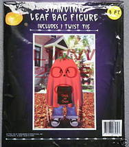 1 Pumpkin Trick-or-treater Figure Leaf Lawn Bag New - $3.99