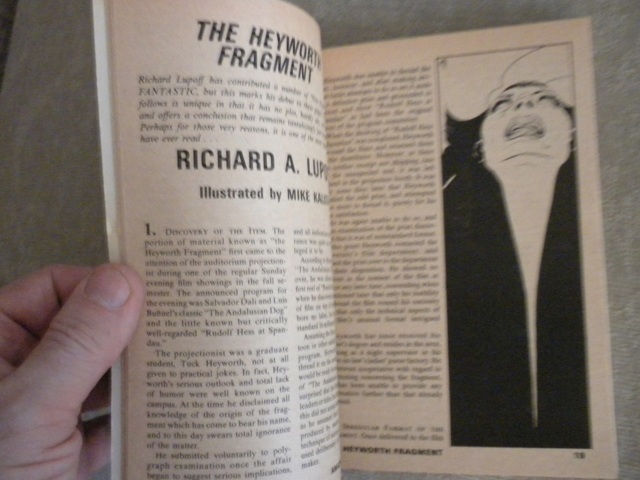 Amazing Science Fiction Stories Pulp Digest complete 1972: Richard Lupoff, White