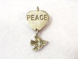 Sterling silver CZ PEACE Pendant - $7.00