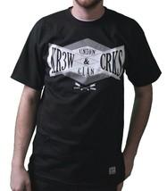 KR3W X Ganci & Castelli Colab Union Clan Nero o Bianco T-Shirt Nwt