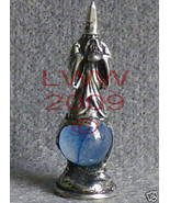 Glass Wishing Wizard PEWTER Figurine Talisman Statue - $5.85