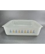 Fire King Candle Glow White Glass 8 x 8 Square Baking Dish - $10.00
