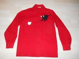 1969 Boy Scouts Wool Red Troop Leader Jacket Jamboree Patch Philmont  Black Bull - $98.99