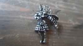 Vintage Sterling Silver Scottish Bag Pipe Brooch 4.5 cm - $34.64