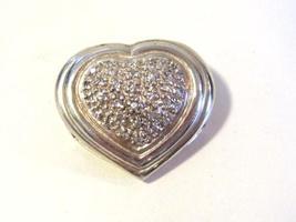 Sterling silver 925 Cubic Zircon stones Heart pendant - $19.00