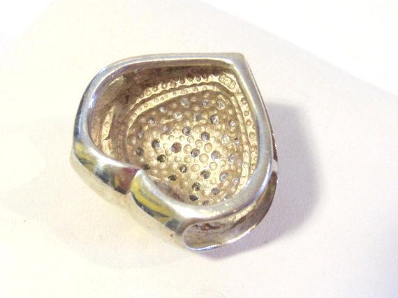 Sterling silver 925 Cubic Zircon stones Heart pendant