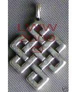 Silver-tone Celtic Knot Diamond pendant necklace Charm - $3.99