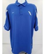 Team Nike Authentic Air Force Academy Blue Polo Shirt Size XL - $32.68