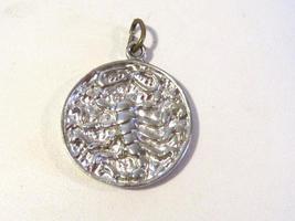Vintage sterling silver Zodiac Scorpio Scorpion pendant - $12.00