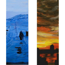 Blue Winter and Across The Hudson, A Paired Set of Original Paintings, E... - $2,500.00